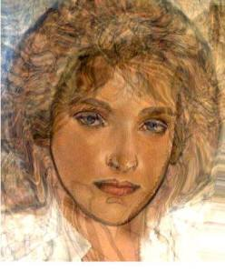 Mucha inspired portrait.